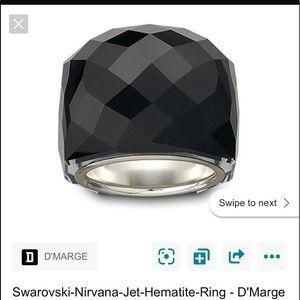 Swarovski Nirvana Jet Hematite Ring